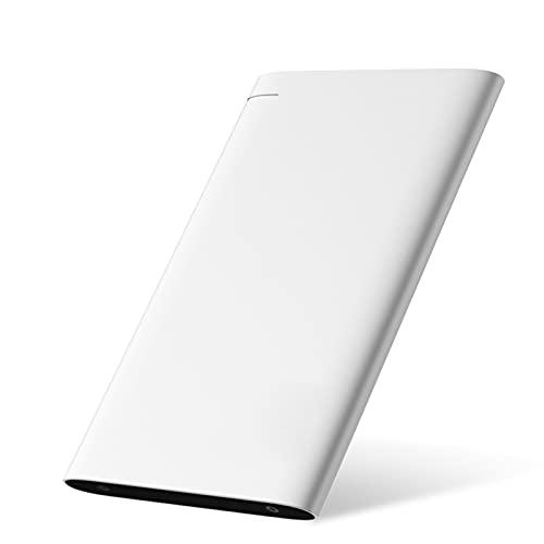 Tbagem-Yjr Hard Disk Esterno, Ssd Esterno SSD Portatile in Lega di Alluminio USB 3.0 HDD Pluviale per Mac/Windows/Android/Linux (Color : White, Size : 2TB)