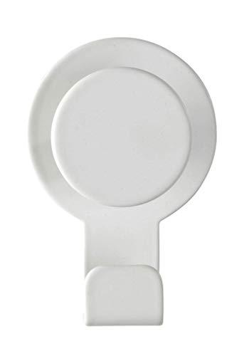 WENKO Colgador Blandas blanco mate - Gancho adhesivo sin taladrar, toallero, Acero inoxidable, 5 x 7.5 x 2.5 cm, Blanco