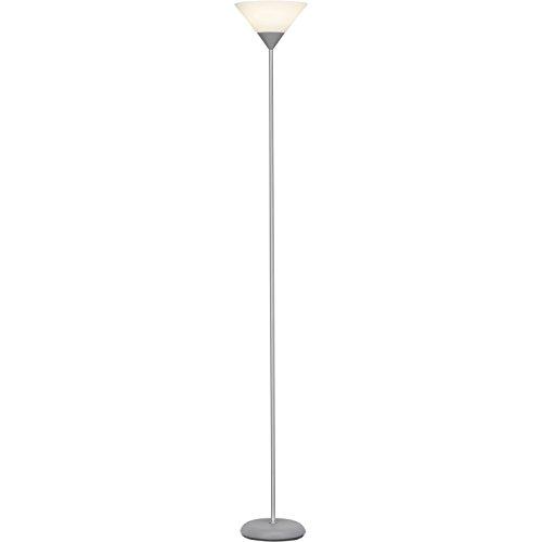 Brilliant Spari LED Deckenfluter 1,8m Stehleuchte silber/weiß 806 Lumen, 1x E27 9,5W LED-Leuchtmittel inklusive