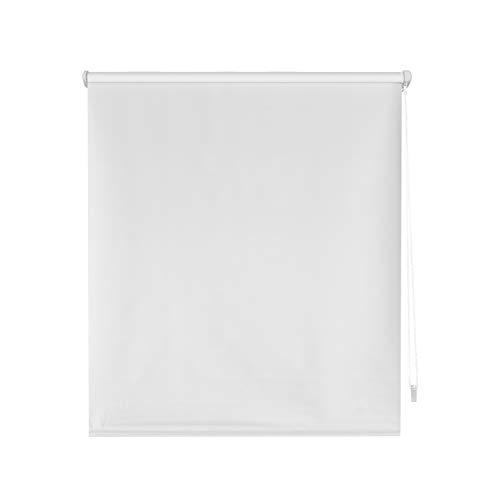 Blindecor Liso BK - Zeus Sin Herramientas, Estor enrollable 100% Opaco, color Blanco (Crudo), 62 X 180 cm (ancho x alto)