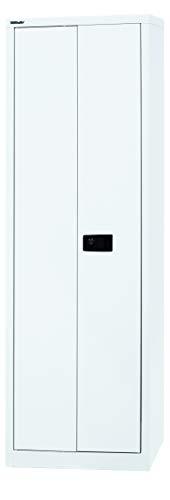 BISLEY Aktenschrank | Werkzeugschrank | Flügeltürenschrank aus Metall abschließbar inkl. 4 Einlegeböden Breite = 60 cm | in 4 Farben in weiß