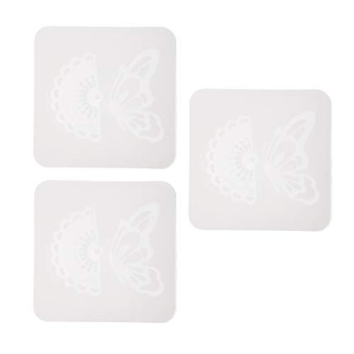 Sharplace 3pcs Moule Silicone de Pendentifs Résine Ajouter Perles/Paillettes/Fleurs Séchées/Embellissements pour Création de Bijoux - 5cm