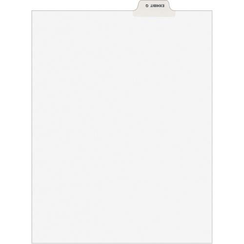 Avery Divider; Exhibit Q; Bottom Tab; 8-1/2'x11'; 25/PK; White