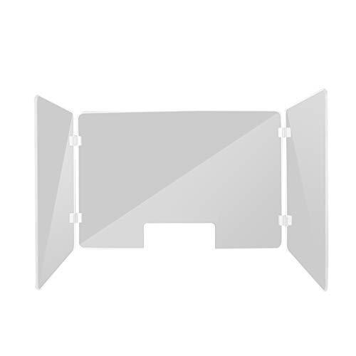 Office Supplies ALUK- Klarer Acryl-Nieschutz Mit Transaktionsöffnung Für Schalter, Rezeption, Schreibtisch, Kassenschild - Wächter Schützen Mitarbeiter Und Kassierer