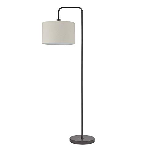 "58"" Barden Floor Lamp with Beige Fabric Shade Dark Bronze - Globe Electric"