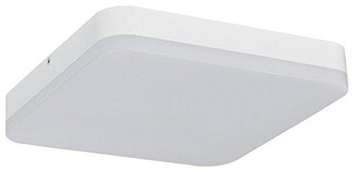 Preisvergleich Produktbild Müller-Licht LED Wand-und Deckenleuchte ideal für den Flurbereich,  quadratisch mit Bewegungs-und Dämmerungssensor,  3000 K,  Plastik,  24 W,  Warmweiß,  mit Sensor