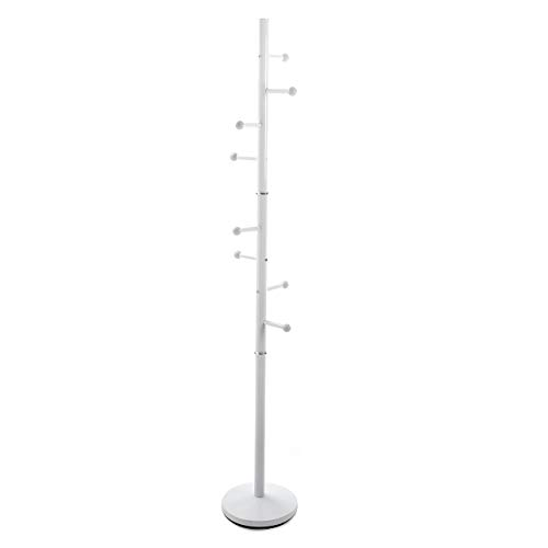 Versa 18790410 Perchero de pie Ruan Blanco, Metal,173x28x28...