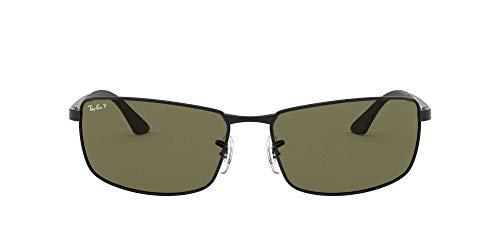 Ray-Ban Unisex Sonnenbrille RB3498, Gr. 61 mm, Gra(Einfarbig), Schwarz (Gestell: Schwarz, Gläser: Grün Klassisch 002/71), Large (Herstellergröße: 61)