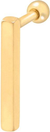 PIERCINGLINE Chirurgenstahl Ohrpiercing | Balken | Piercing Schmuck Ohr Stecker Helix | Farb & Größenauswahl