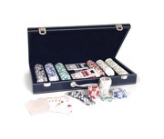 Smir – 380040 – Gioco di Carte – Valigetta Poker in Ecopelle Nero 300 gettoni