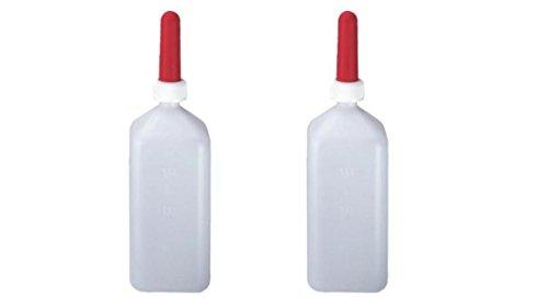 Set di 2 bottiglie rettangolari da 2 litri per la coltivazione di vitelli.