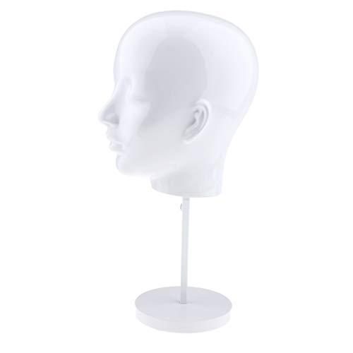 Baoblaze Présentoir Support à Perruque Tête de Mannequin Display Stand Présentoir Chapeau de Vitrine Display
