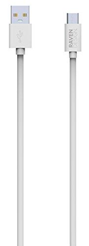 Raven design [Certificado Android] Cable Micro USB a USB Resistente para Smartphone, Tablet, Android, Samsung, HTC, Nokia, Sony y Otros 2,50Metros
