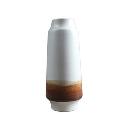 XWHAOB Vaso di Fiori, Vaso in Ceramica Bianca Retro Sala da tè Ornamenti in Ceramica Decorazione pentola di Terracotta Ornamenti Decorativi (Dimensioni: 14 * 34 cm)