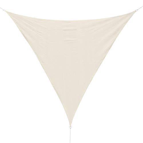 Outsunny Tenda Tendone Parasole Triangolare (Colore: Bianco Crema, Dimensione: 4x4x4m)