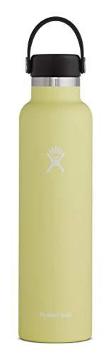 Hydro Flask Borraccia termica da 710ml (24 oz) in acciaio inossidabile e isolamento sottovuoto con imboccatura standard e tappo antigoccia Flex Cap, Pineapple
