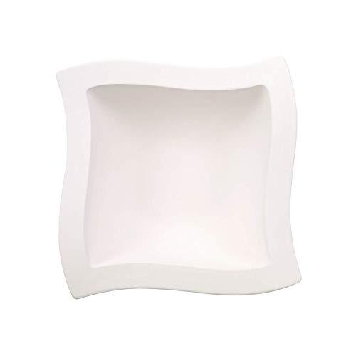 Villeroy & Boch - bol NewWave, pour salade et accompagnements, forme carrée, porcelaine premium, compatible lave-vaisselle et micro-onde, blanc, 25 cm