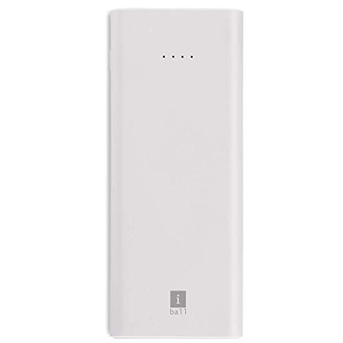 iBall 10000mAh Li-Polymer Slim Design Smart Charge Powerbank – LPS 10000 (White)