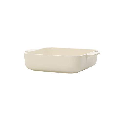 Villeroy & Boch 13-6021-3245 Fuente para Horno Cuadrada de 21 x 21 cm, Porcelana, Beige, Centimeters