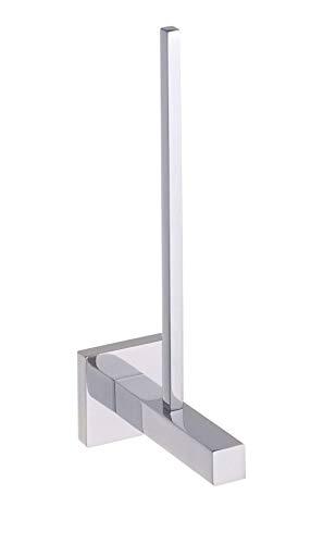 Wenko 17975100 Power-Loc Toilettenpapier-Ersatzrollenhalter San Remo - Befestigen ohne bohren, Messing, 5 x 23.5 x 11 cm, chrom