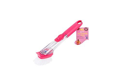 Addis LQOC-Cepillo de Limpieza con Cabezal de cerdas, Color Rosa, Suelto