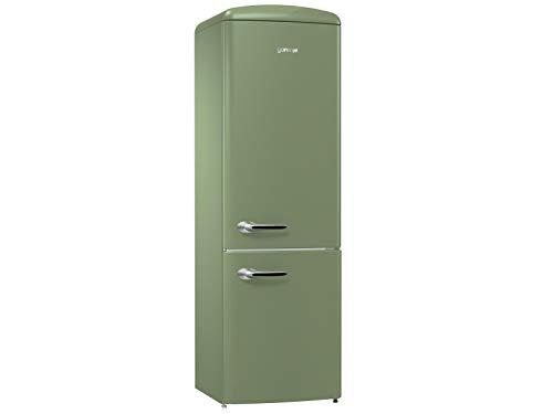 Gorenje OldTimer ORK 193 OL - Frigorífico y congelador (sistema de flujo de aire, 60 cm de ancho, diseño retro, A+++), color verde