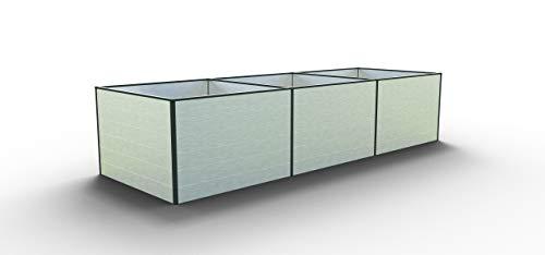 GFP Daniela 351 Aluminium Hochbeet für den Garten - 351x99x77cm, formstabil und witterungsbeständig auch bei Hagel mit Aluminium-Hohlkammerprofilen, Verschiedene Sets vorhanden - Made in Austria