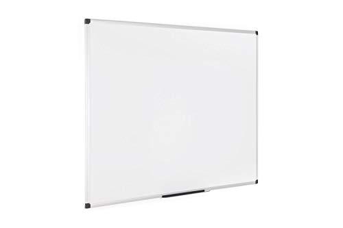 Bi-Office Maya, Pizarra blanca magnética con marco de aluminio, 1200 x 900 mm