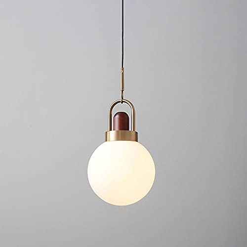 Luz colgante de vidrio de globo, kit de ajuste de la iluminación de la iluminación del techo del techo de la sombra blanca helada, el accesorio de la iluminación de la isla de la cocina del cable ajus