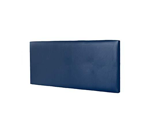 DHOME Cabecero de Polipiel o Tela AQUALINE Liso cabeceros Cabezal tapizado Cama Lujo (Polipiel Azul, 95cm (Camas 70/80/90))