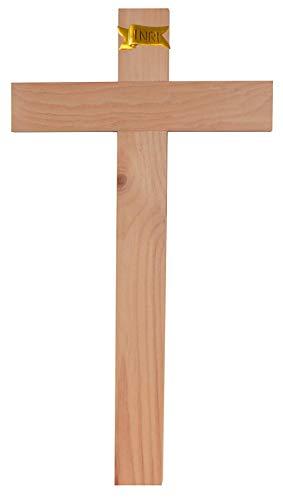 Kaltner Präsente Geschenkidee - 35 cm Wandkreuz Echt Zirbe Holz Kreuz Holzkreuz Kruzifix für die Wand klassisch