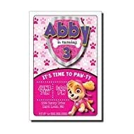 Pink Paw Patrol | Skye | Birthday Party Invitation | Personalized Design (35)