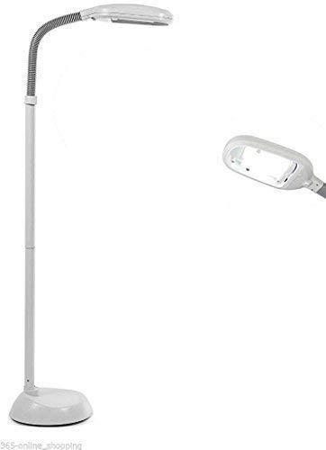Garden Mile Natürliches Tageslicht Simulation von Boden-stehlampe Gänsehals Hoch Vision Beleuchtung Lesen Hobby Basteln SAD Licht 27w Energiesparende weiß Lampe