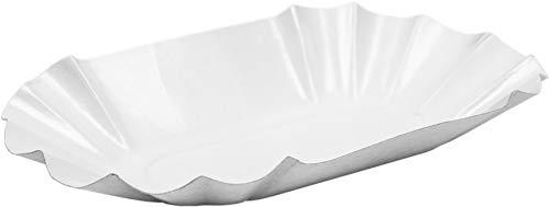 HEKU 31420: 250 Pappschalen mit Beschichtung, weiß, 10,5 x 17,5 x 3 cm, Pappe