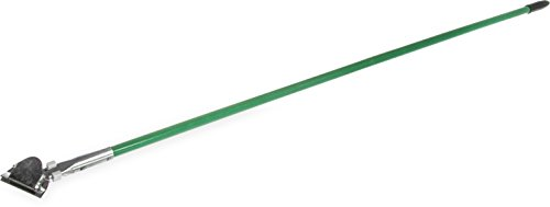 """Carlisle 36211309 Fiberglass Dust Mop Handle with Clip-On Connector, 60"""", Green (Pack of 12)"""