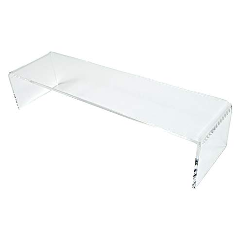 Acrylic Plinth Shelf Risers to Fit IKEA Detolf Cabinets Retail Shop Display (DS80) (Clear)