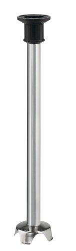 Waring Comercial WSB70ST, eje mezclador de inmersión de acero inoxidable de 53,3 cm, negro/plateado