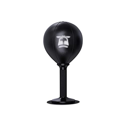 MNYHJDS Bola de la Velocidad de Boxeo Desktop Ball Ball Desktop Decompression Ball Office Relajación Descompresión Equipo de descompresión kk (Color : BLACK1, Size : 18 * 18 * 40CM)
