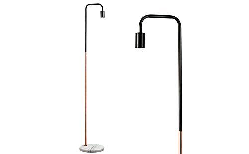 Lámpara de pie Moderna - Con innovador diseño y sabor vintage - Negro y cromo