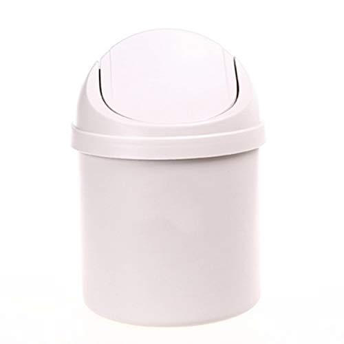 ShixinC Friendly Mini Desktop Shake Cover Mülleimer mit Abdeckung Kleiner Mülleimer Schmutz Aufbewahrung Reinigung Mülleimer Bg
