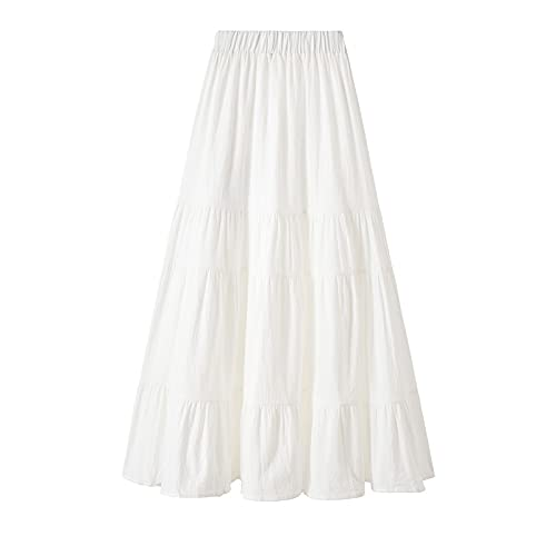 chushi Vestidos de Mujer Moda Hippie Mujeres Blanco Encaje Patchwork Beach Falda...