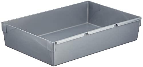 CURVER | Casier de rangement 23x15cm, Argent, 23 x 15 x 5 cm, Plastique