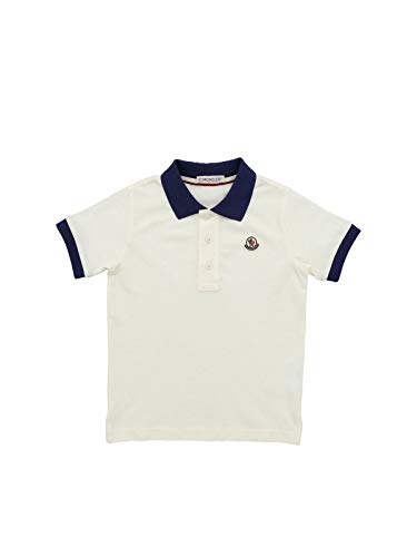 Moncler Luxury Fashion Junge 8A701208496W034 Weiss Baumwolle Poloshirt | Frühling Sommer 20