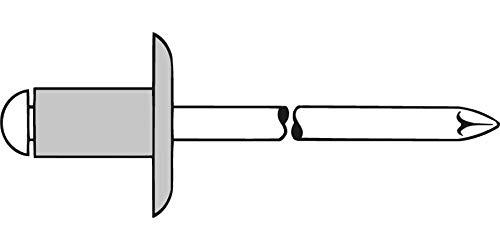 Gesipa Blindniete Alu/Stahl Grosskopf 5 x 8 K 14 mm, 250 Stück, (1433523) Blindniettechnik, Grau