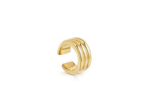 Brandlinger ® Atelier Cuffs aus vergoldetem 925 Sterling Silber. Ohrklemmen (2 Stück) mit Durchmesser 13 mm