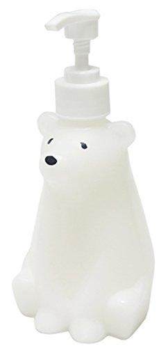 ハシートップイン ソープ ディスペンサー 詰め替え 容器 シャンプー ボトル キッチン 洗剤 石鹸 手洗い 300ml S ホワイト 白くま HB-2859
