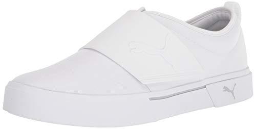 PUMA Men's El Rey Sneaker White-Gray Violet Men's 10.5, Women's 12 Medium