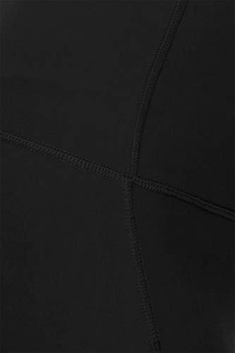 YL8A-BLACK-M Side Pocket Yoga Pants with Reflective Dots, Medium