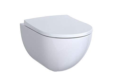 KG Acanto Tiefspül-WC, spülrandlos 4,5/6l, wandhängend, weiß, KeraTect