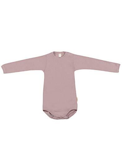 Dilling Baby Body mit Langen Ärmeln aus Bio Wolle & Seide Pastellrosa 74